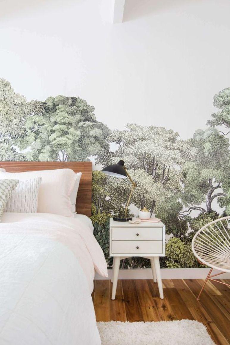 C mo dise ar un dormitorio a partir de un papel pintado for Como disenar un dormitorio