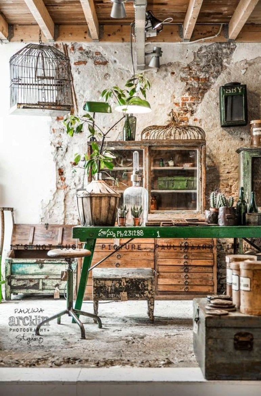 Tienda de jardinería con encanto industrial