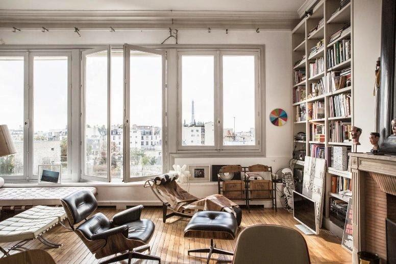 Eclecticismo en un apartamento en París