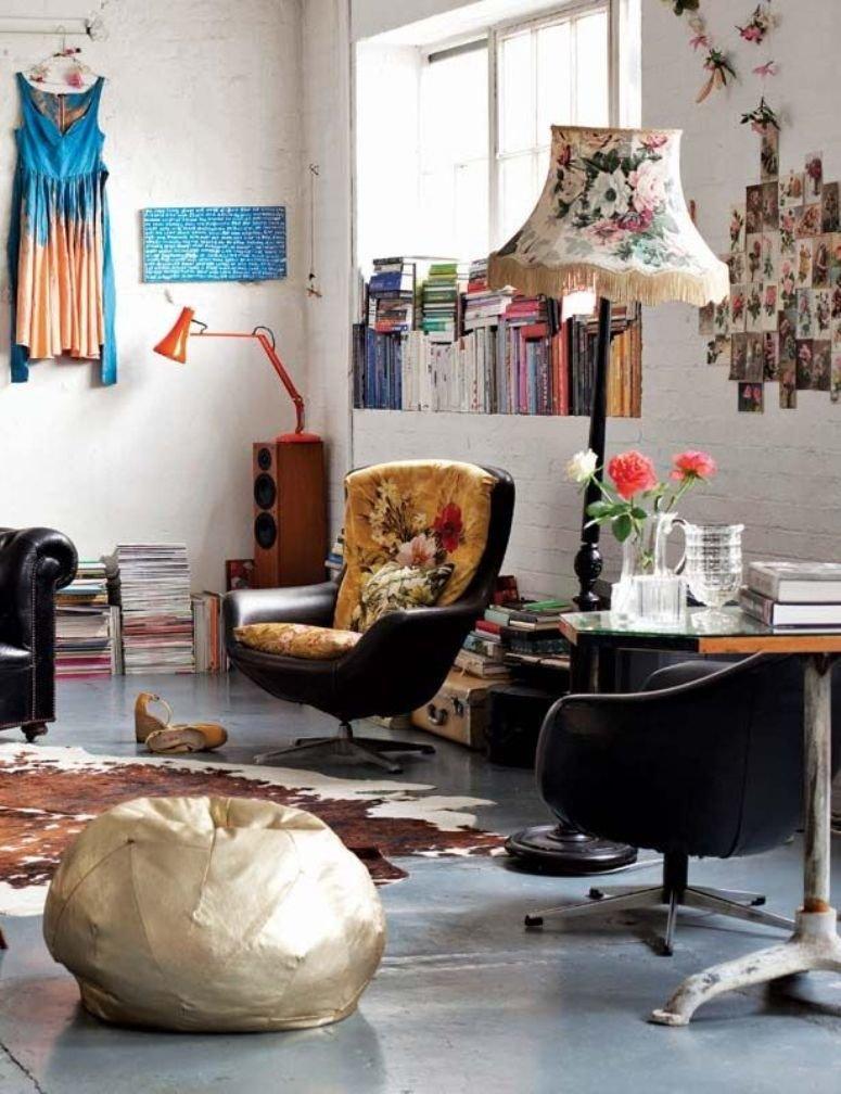 El espíritu bohemio de un apartamento londinense