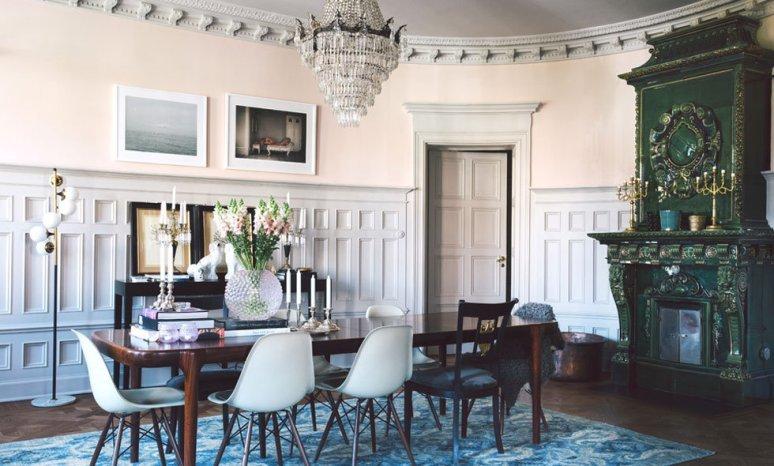Una casa sueca inspirada por el estilo parisino