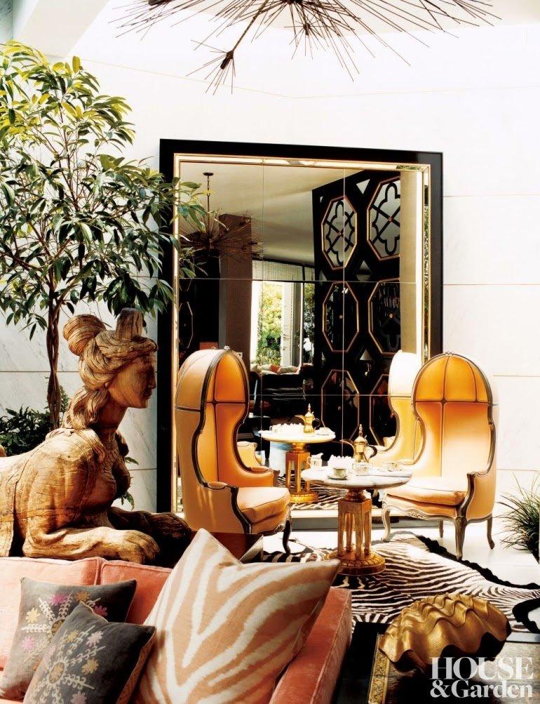 Glamour excesivo y exótico en Beverly Hills