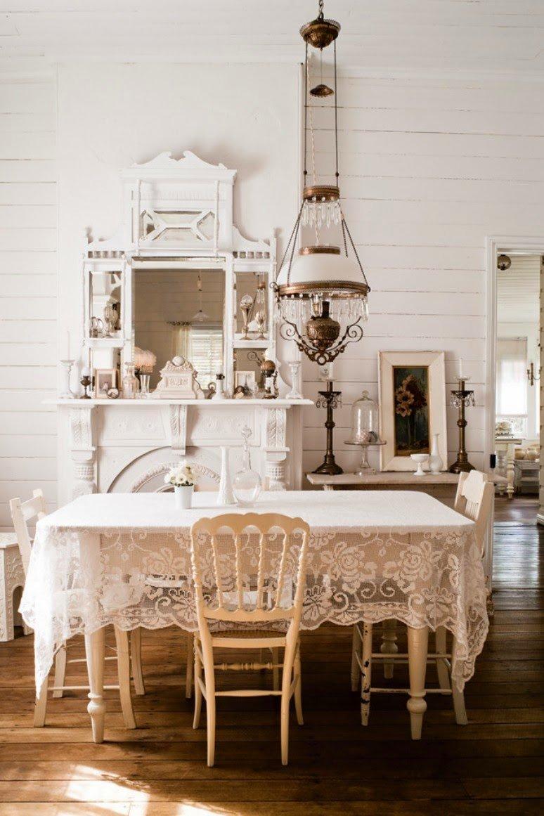 Una casa Shabby Chic en blanco