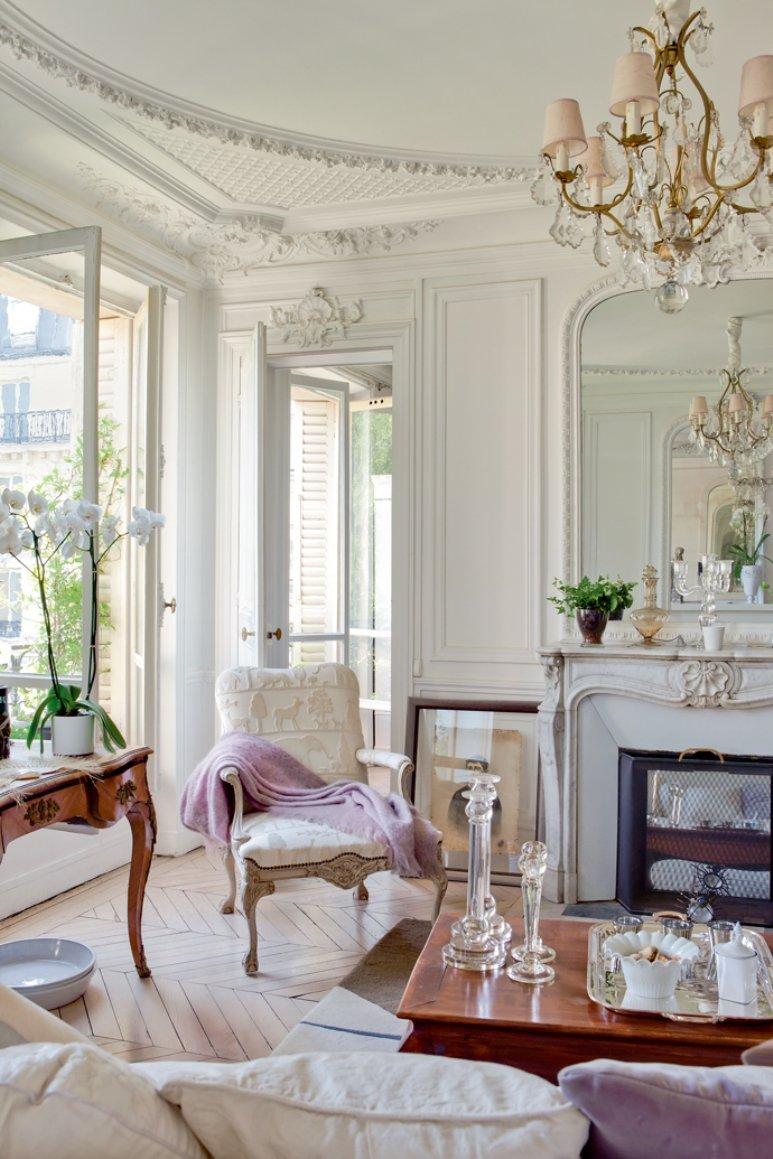 Un apartamento luminoso y refinado en París