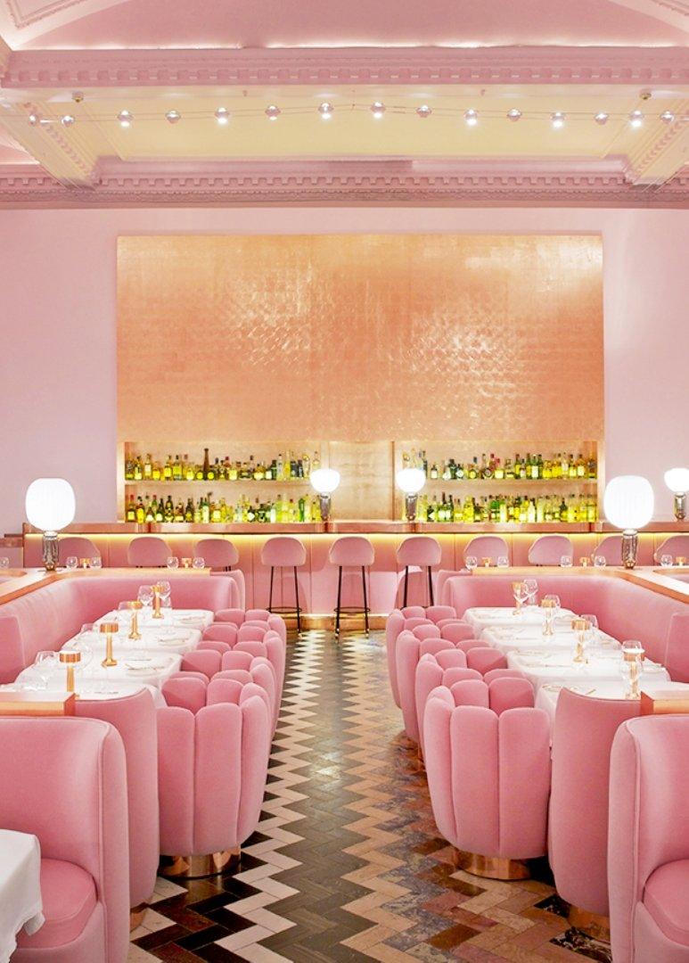 El mítico restaurante rosa de Londres