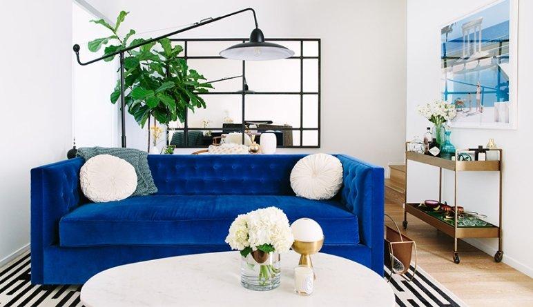 Elegancia y frescura en azul