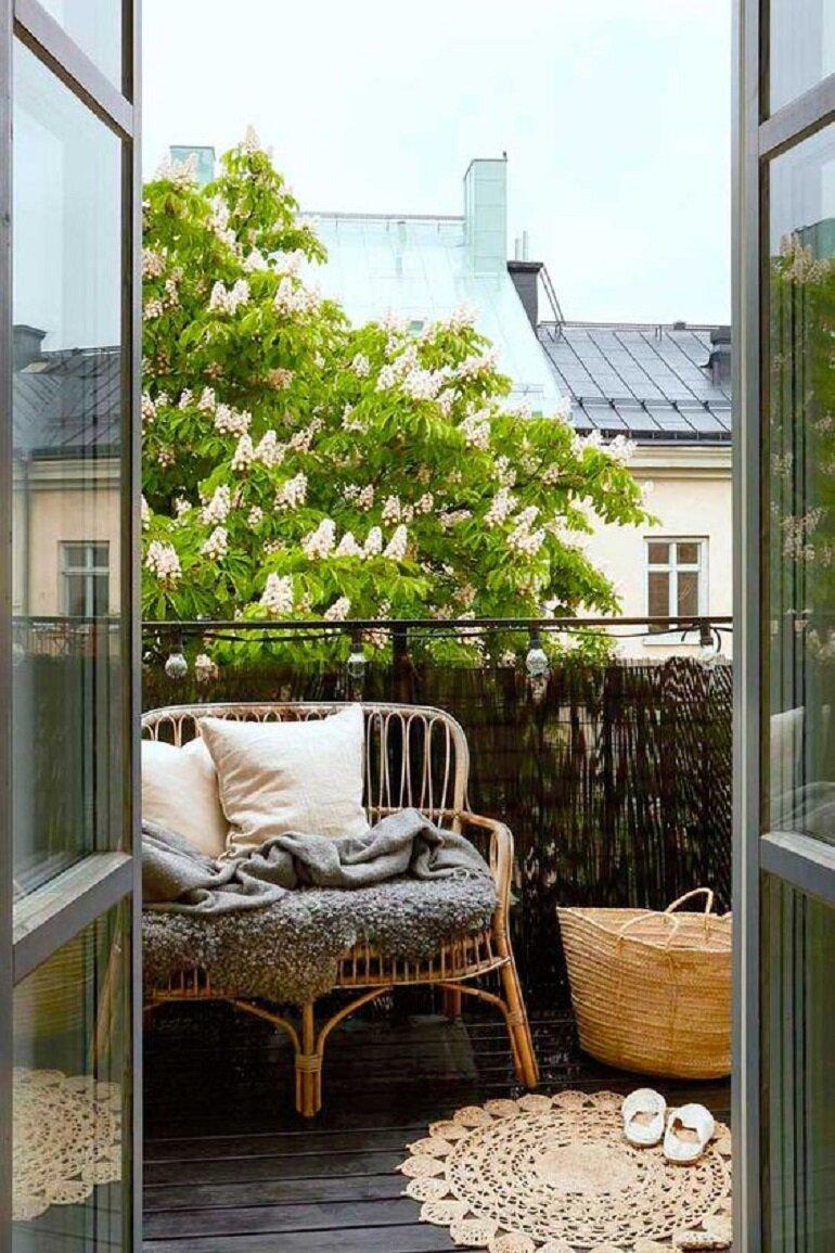 Cómo decorar pequeños balcones o terrazas