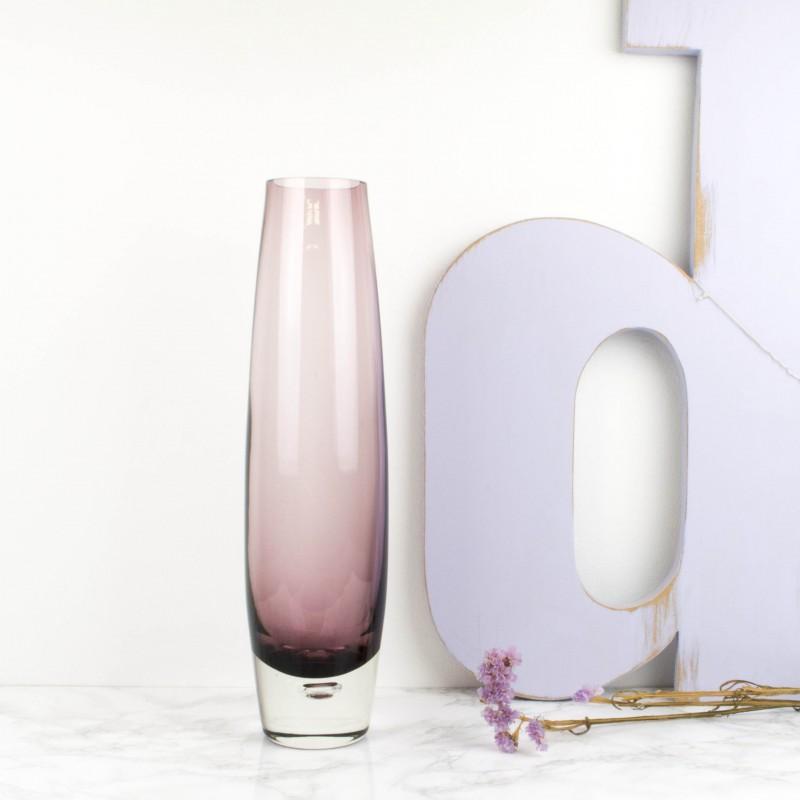 jarrn sueco de cristal lila - Jarrones De Cristal