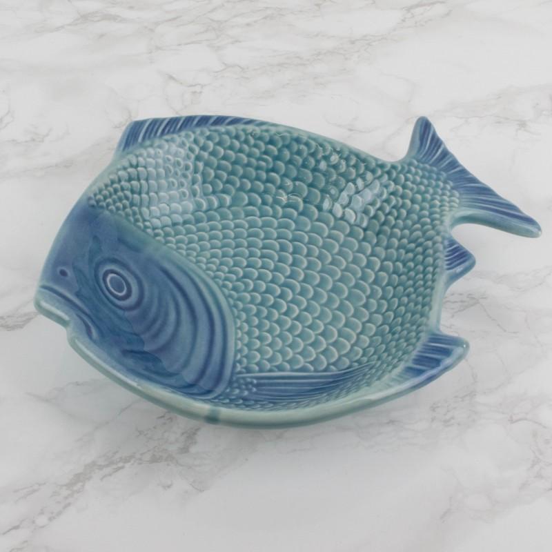 Plato azul portugu s forma de pez platos y vajillas cocina - Vajillas portuguesas ...
