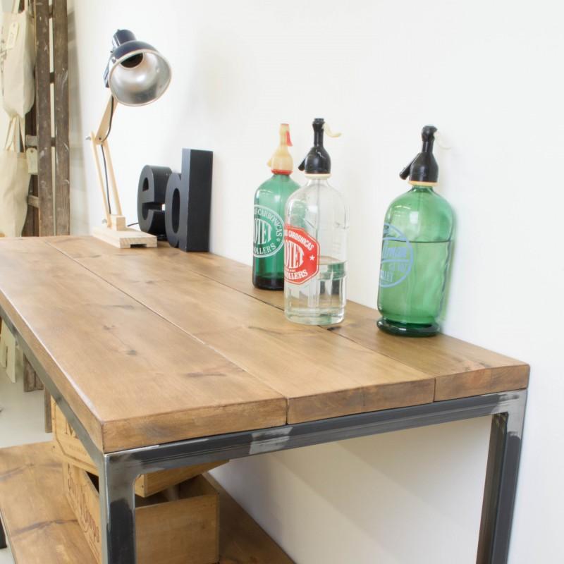 Mueble auxiliar de cocina de hierro y madera auxiliar muebles - Muebles auxiliares de cocina ...