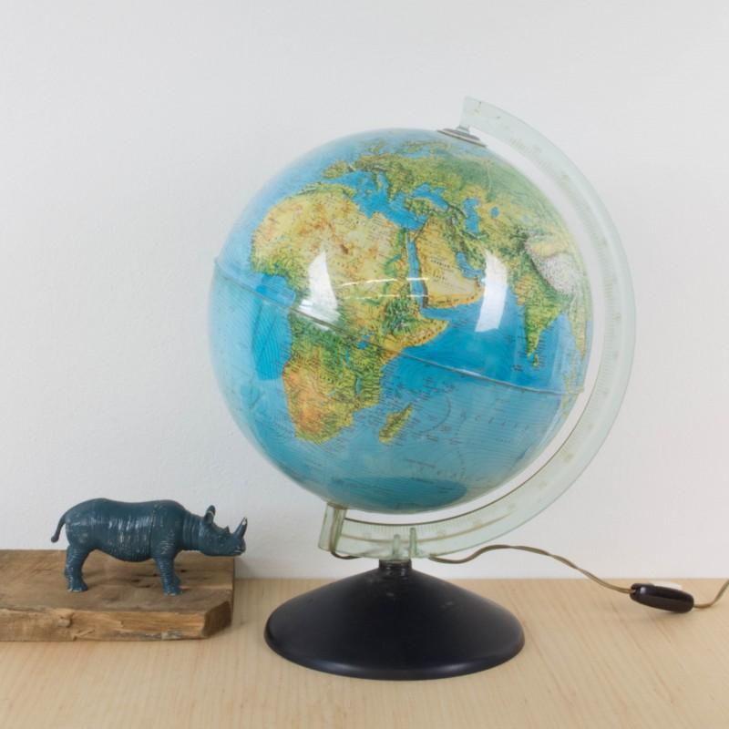 Globo terr queo f sico y pol tico a os 60 iluminado mapas y globos terr queos objetos y - Globos terraqueos barcelona ...