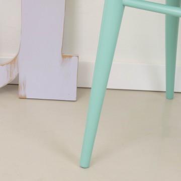 Silla Patricia, estilo escandinavo color aguamarina