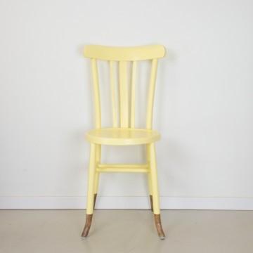 Silla bistró amarilla
