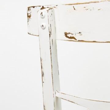 Pareja de sillas Amanda, en blanco decapé