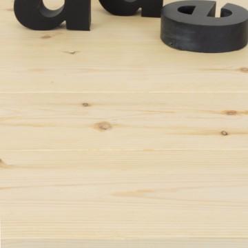 Mesa de centro de hierro y madera de pino