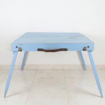 Maleta mesa en azul cielo