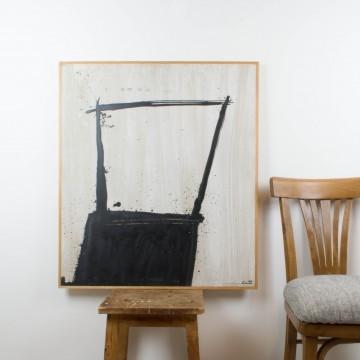 En la silla, pintura original de 2005