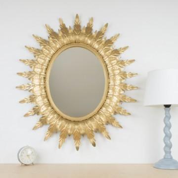 Espejo sol ovalado vintage