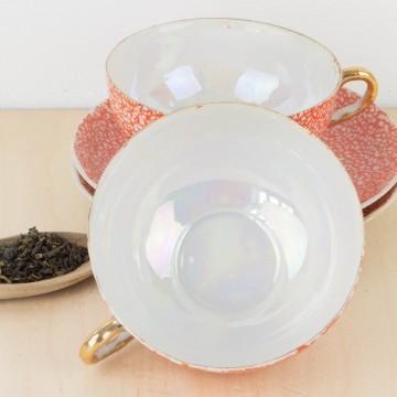 Juego de te oriental de porcelana
