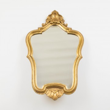 Pequeño espejo cornucopia francés