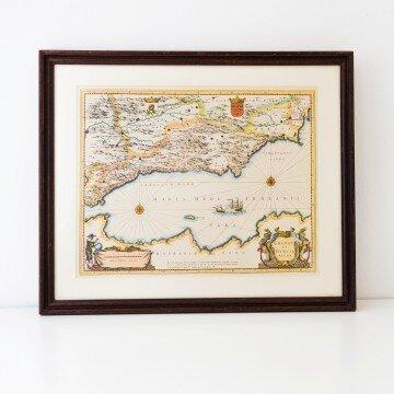 Antiguo mapa de Granada y Murcia