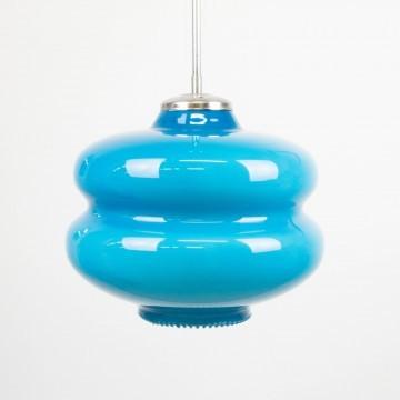 Lámpara azul opalina