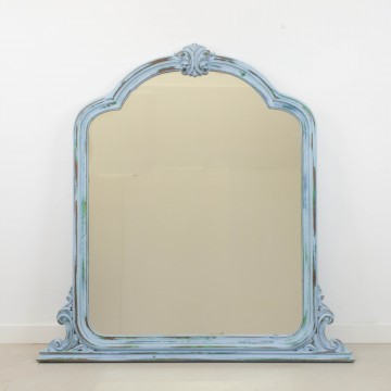 Espejo azul decapé