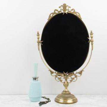 Espejo para tocador dorado