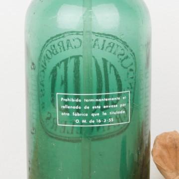 Sifón Clotet de cristal verde y serigrafía blanca