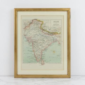 Antiguo mapa de India