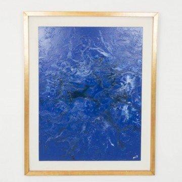 Pintura original de Cèlia Izquierdo, 2017, Into the blue