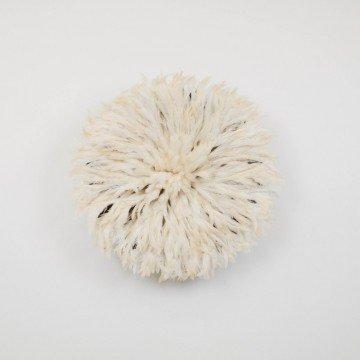 Juju hat o sombrero Bamileke, blanco roto mediano