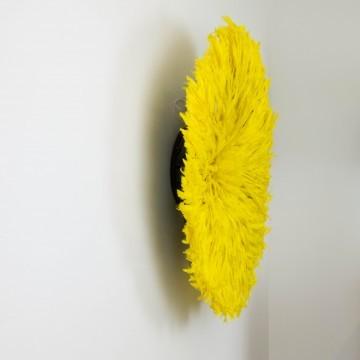 Juju hat o sombrero Bamileke, amarillo grande