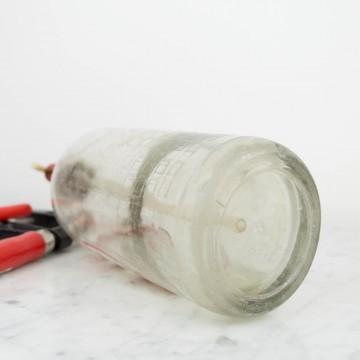 Sifón La Guardia con tapón de plástico rojo