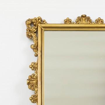 Espejo dorado rectangular