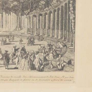 Calcografía del Museo del Louvre: Le théâtre d'eau, de Jacques Rigaud