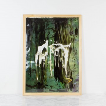 Entre los árboles, pintura abstracta, 2009