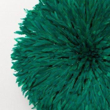 Juju hat o sombrero Bamileke, verde oscuro grande