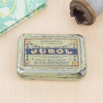 Pequeña caja de pastillas Jubol