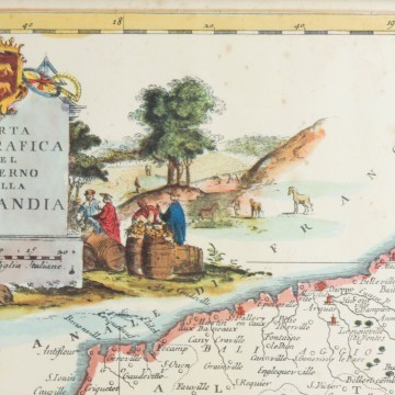 Antiguo mapa de Normandía