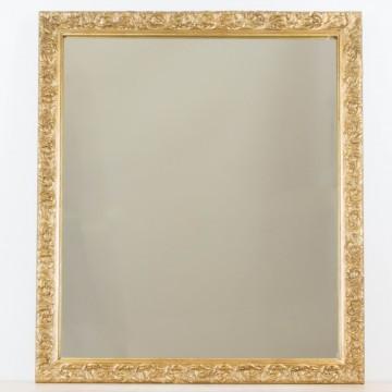 Espejo dorado a partir de antiguo marco