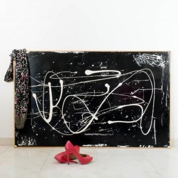 La cámara oscura, pintura abstracta de 2008
