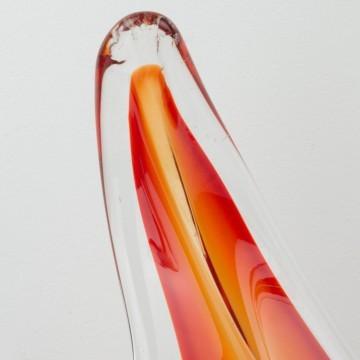 Centro de mesa de cristal de Murano rojo grande