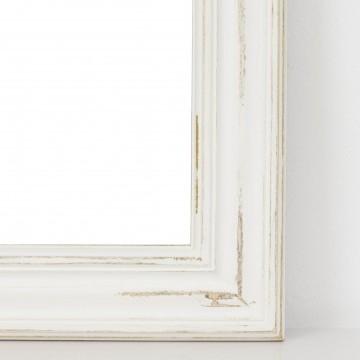 Espejo rectangular blanco