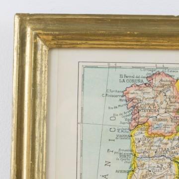 Mapa de España y Portugal