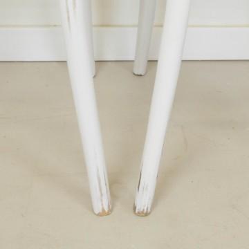 Pareja de sillas bistró en blanco