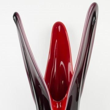 Jarrón de Murano rojo y morado