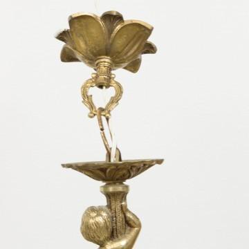 Chandelier o araña de bronce