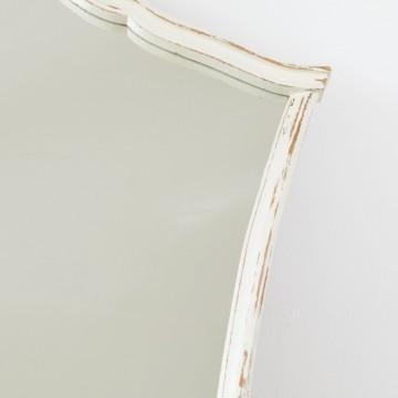 Espejo isabelino en blanco decapé