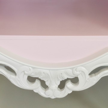 Aparador Vanesa en gris y rosa
